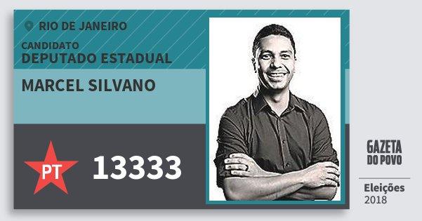 Santinho Marcel Silvano 13333 (PT) Deputado Estadual | Rio de Janeiro | Eleições 2018