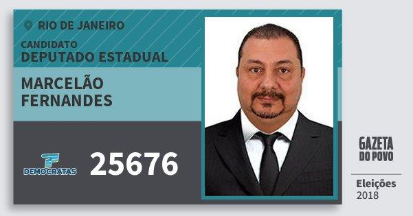 Santinho Marcelão Fernandes 25676 (DEM) Deputado Estadual | Rio de Janeiro | Eleições 2018