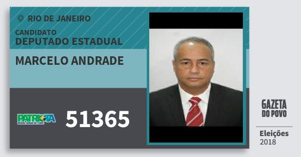 Santinho Marcelo Andrade 51365 (PATRI) Deputado Estadual | Rio de Janeiro | Eleições 2018