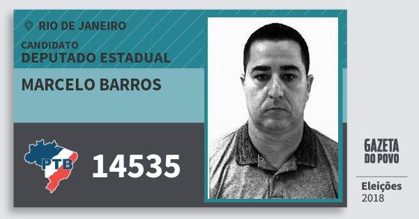 Santinho Marcelo Barros 14535 (PTB) Deputado Estadual | Rio de Janeiro | Eleições 2018