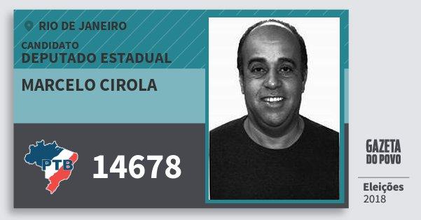 Santinho Marcelo Cirola 14678 (PTB) Deputado Estadual | Rio de Janeiro | Eleições 2018