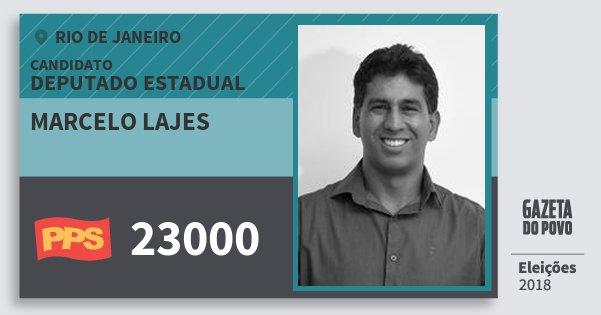 Santinho Marcelo Lajes 23000 (PPS) Deputado Estadual | Rio de Janeiro | Eleições 2018