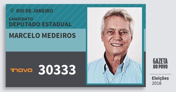 Santinho Marcelo Medeiros 30333 (NOVO) Deputado Estadual | Rio de Janeiro | Eleições 2018
