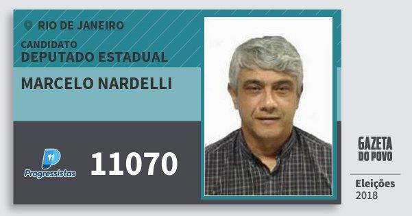Santinho Marcelo Nardelli 11070 (PP) Deputado Estadual | Rio de Janeiro | Eleições 2018
