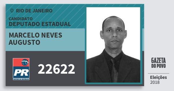Santinho Marcelo Neves Augusto 22622 (PR) Deputado Estadual | Rio de Janeiro | Eleições 2018