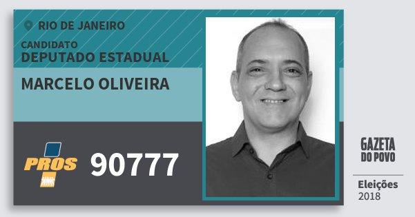 Santinho Marcelo Oliveira 90777 (PROS) Deputado Estadual | Rio de Janeiro | Eleições 2018