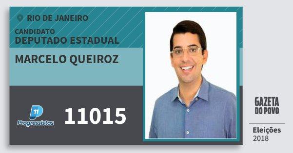 Santinho Marcelo Queiroz 11015 (PP) Deputado Estadual | Rio de Janeiro | Eleições 2018
