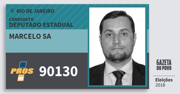 Santinho Marcelo Sa 90130 (PROS) Deputado Estadual | Rio de Janeiro | Eleições 2018