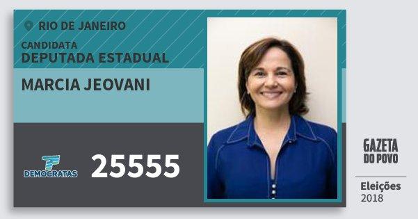 Santinho Marcia Jeovani 25555 (DEM) Deputada Estadual   Rio de Janeiro   Eleições 2018