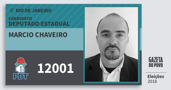 Santinho Marcio Chaveiro 12001 (PDT) Deputado Estadual | Rio de Janeiro | Eleições 2018