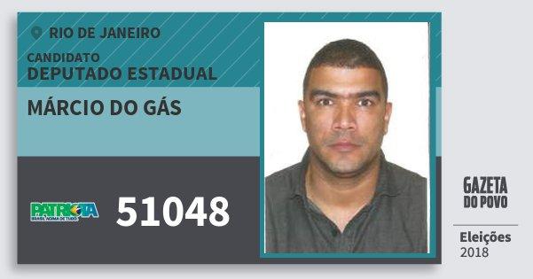 Santinho Márcio do Gás 51048 (PATRI) Deputado Estadual | Rio de Janeiro | Eleições 2018