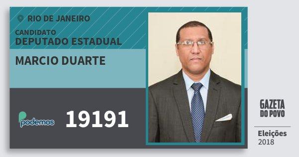 Santinho Marcio Duarte 19191 (PODE) Deputado Estadual   Rio de Janeiro   Eleições 2018