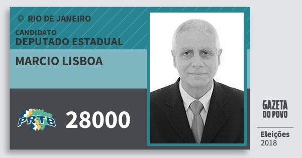 Santinho Marcio Lisboa 28000 (PRTB) Deputado Estadual | Rio de Janeiro | Eleições 2018
