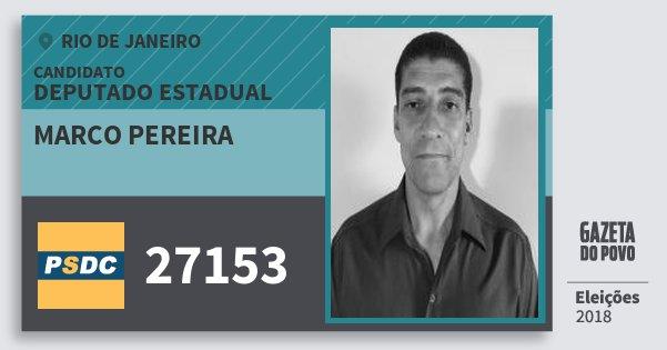 Santinho Marco Pereira 27153 (DC) Deputado Estadual   Rio de Janeiro   Eleições 2018