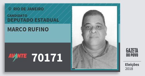 Santinho Marco Rufino 70171 (AVANTE) Deputado Estadual   Rio de Janeiro   Eleições 2018