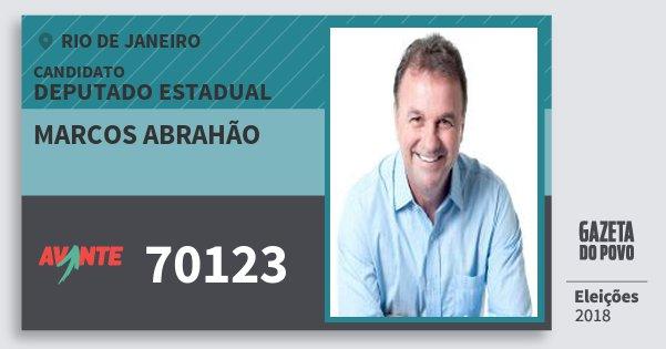 Santinho Marcos Abrahão 70123 (AVANTE) Deputado Estadual | Rio de Janeiro | Eleições 2018