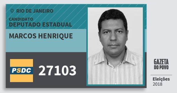 Santinho Marcos Henrique 27103 (DC) Deputado Estadual | Rio de Janeiro | Eleições 2018