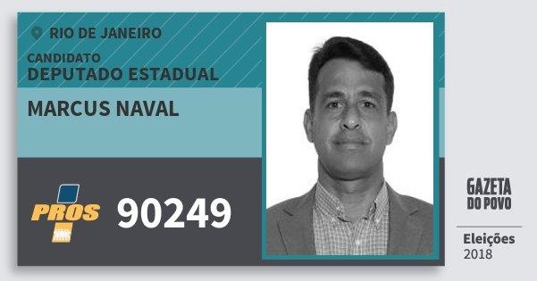 Santinho Marcus Naval 90249 (PROS) Deputado Estadual | Rio de Janeiro | Eleições 2018