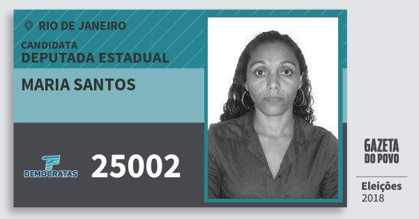 Santinho Maria Santos 25002 (DEM) Deputada Estadual   Rio de Janeiro   Eleições 2018