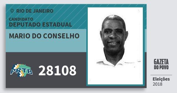 Santinho Mario do Conselho 28108 (PRTB) Deputado Estadual | Rio de Janeiro | Eleições 2018