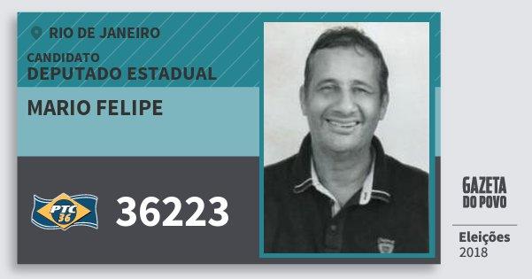 Santinho Mario Felipe 36223 (PTC) Deputado Estadual   Rio de Janeiro   Eleições 2018