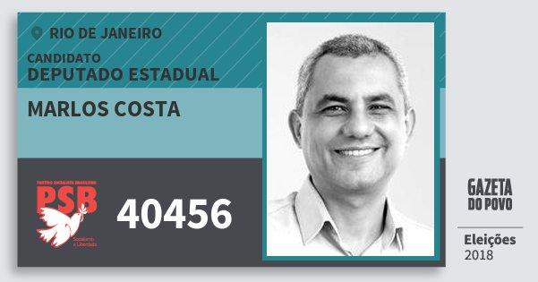 Santinho Marlos Costa 40456 (PSB) Deputado Estadual | Rio de Janeiro | Eleições 2018