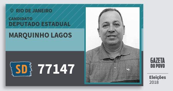Santinho Marquinho Lagos 77147 (SOLIDARIEDADE) Deputado Estadual | Rio de Janeiro | Eleições 2018