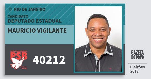 Santinho Mauricio Vigilante 40212 (PSB) Deputado Estadual | Rio de Janeiro | Eleições 2018