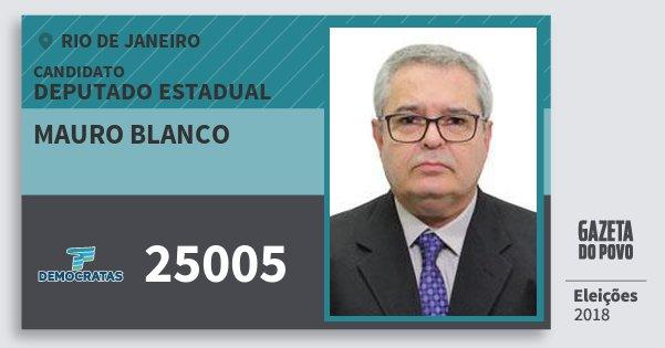 Santinho Mauro Blanco 25005 (DEM) Deputado Estadual   Rio de Janeiro   Eleições 2018