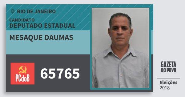 Santinho Mesaque Daumas 65765 (PC do B) Deputado Estadual | Rio de Janeiro | Eleições 2018