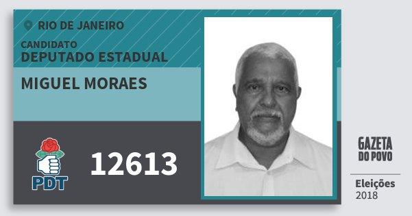 Santinho Miguel Moraes 12613 (PDT) Deputado Estadual   Rio de Janeiro   Eleições 2018