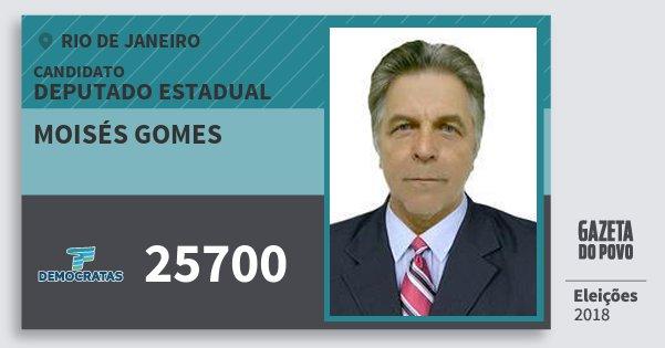 Santinho Moisés Gomes 25700 (DEM) Deputado Estadual | Rio de Janeiro | Eleições 2018