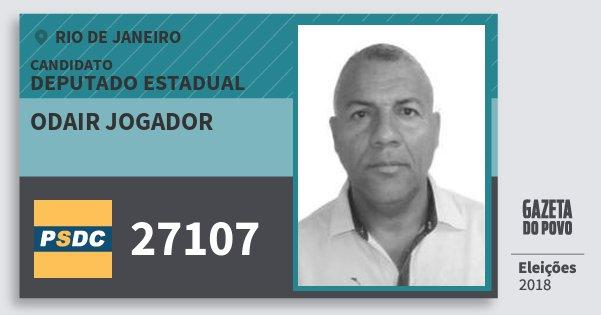 Santinho Odair Jogador 27107 (DC) Deputado Estadual | Rio de Janeiro | Eleições 2018