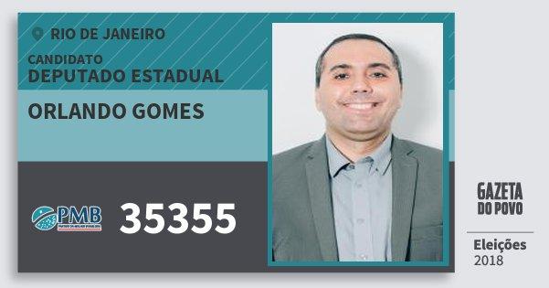 Santinho Orlando Gomes 35355 (PMB) Deputado Estadual | Rio de Janeiro | Eleições 2018