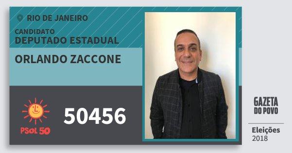 Santinho Orlando Zaccone 50456 (PSOL) Deputado Estadual | Rio de Janeiro | Eleições 2018