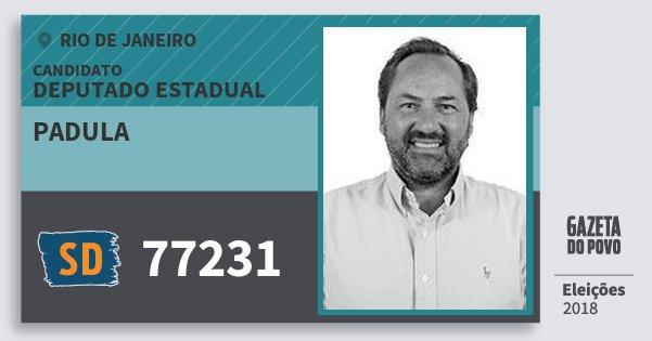 Santinho Padula 77231 (SOLIDARIEDADE) Deputado Estadual | Rio de Janeiro | Eleições 2018