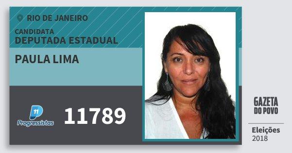 Santinho Paula Lima 11789 (PP) Deputada Estadual | Rio de Janeiro | Eleições 2018