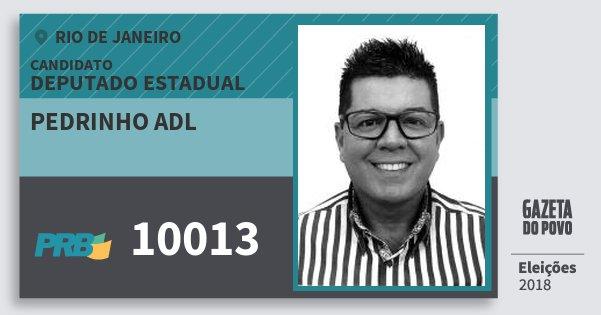 Santinho Pedrinho Adl 10013 (PRB) Deputado Estadual   Rio de Janeiro   Eleições 2018