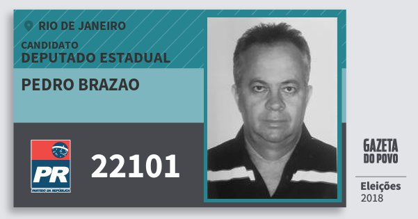 Santinho Pedro Brazao 22101 (PR) Deputado Estadual | Rio de Janeiro | Eleições 2018