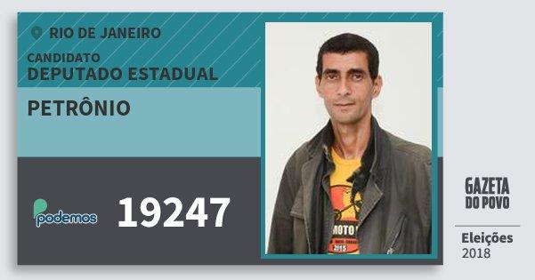 Santinho Petrônio 19247 (PODE) Deputado Estadual | Rio de Janeiro | Eleições 2018