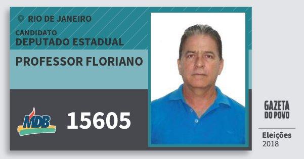 Santinho Professor Floriano 15605 (MDB) Deputado Estadual | Rio de Janeiro | Eleições 2018