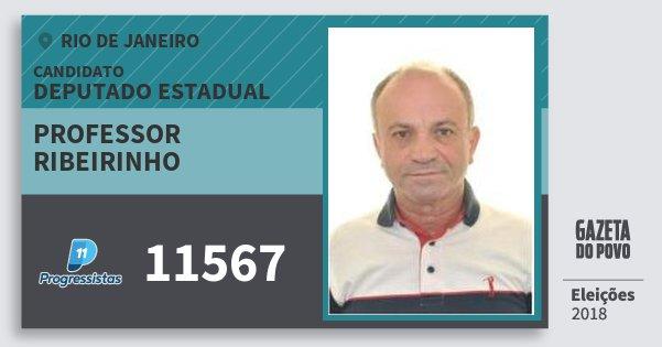 Santinho Professor Ribeirinho 11567 (PP) Deputado Estadual | Rio de Janeiro | Eleições 2018
