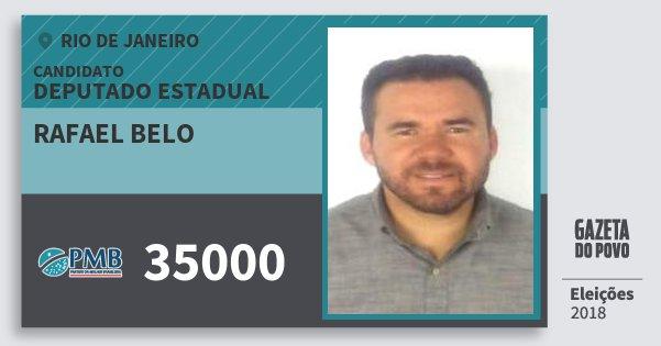 Santinho Rafael Belo 35000 (PMB) Deputado Estadual | Rio de Janeiro | Eleições 2018