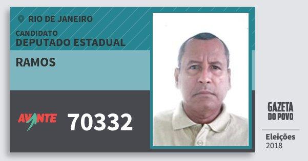 Santinho Ramos 70332 (AVANTE) Deputado Estadual | Rio de Janeiro | Eleições 2018