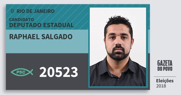 Santinho Raphael Salgado 20523 (PSC) Deputado Estadual | Rio de Janeiro | Eleições 2018