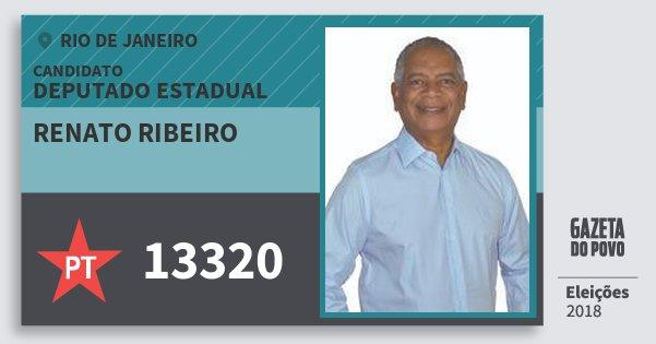 Santinho Renato Ribeiro 13320 (PT) Deputado Estadual | Rio de Janeiro | Eleições 2018