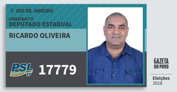 Santinho Ricardo Oliveira 17779 (PSL) Deputado Estadual   Rio de Janeiro   Eleições 2018