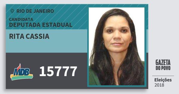 Santinho Rita Cassia 15777 (MDB) Deputada Estadual | Rio de Janeiro | Eleições 2018