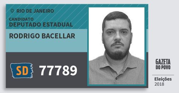 Santinho Rodrigo Bacellar 77789 (SOLIDARIEDADE) Deputado Estadual | Rio de Janeiro | Eleições 2018