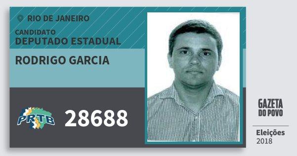 Santinho Rodrigo Garcia 28688 (PRTB) Deputado Estadual | Rio de Janeiro | Eleições 2018